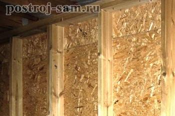 Стена каркасного дома в разрезе - материалы и монтаж